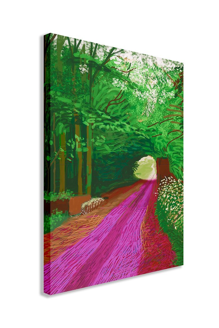 DAVID HOCKNEY THE ARRIVAL OF SPRING IN WOLDGATE 2011 31 MAY CANVAS WALL ART (30