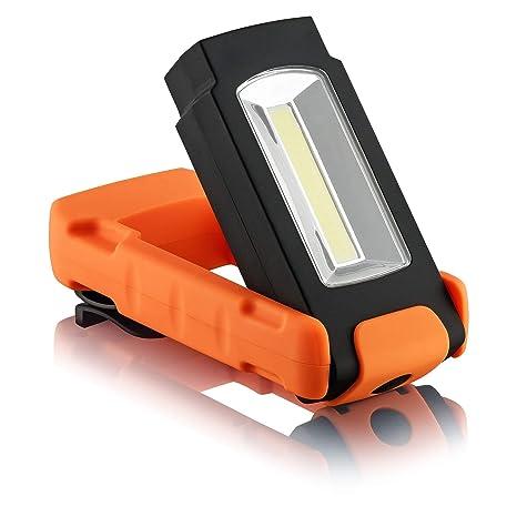 SEBSON® Lampara Portatil LED, regulable, Luz de Trabajo, Linterna Tactica, Magnetica