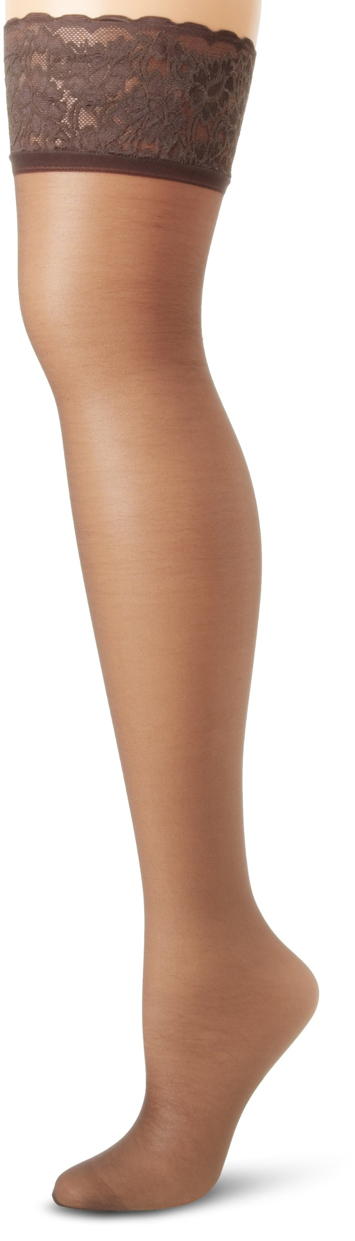 Hanes Silk Reflections Women's Lace Top Thigh High
