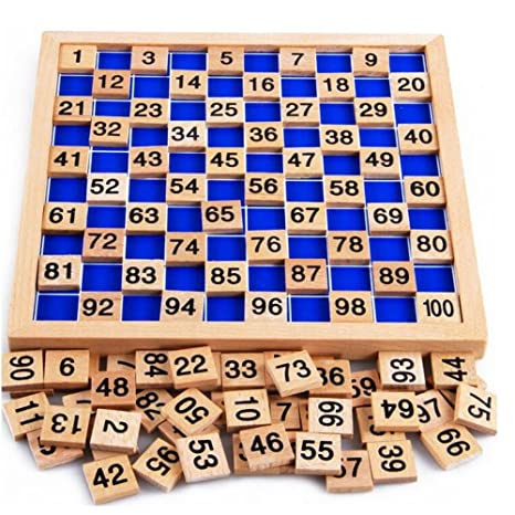 DEWEL Wooden Toys Hundred Board 1 100 Consecutive Numbers Montessori Toy  Home School Baby