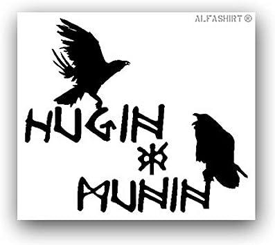 Aufkleber Sticker Hugin Und Munin Nordische Mythologie Raben Odins 8x7cm A3107 Auto