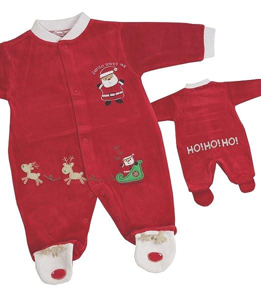 BabyPrem - Pelele - Manga Larga - para bebé niño rojo 56-62 cm (