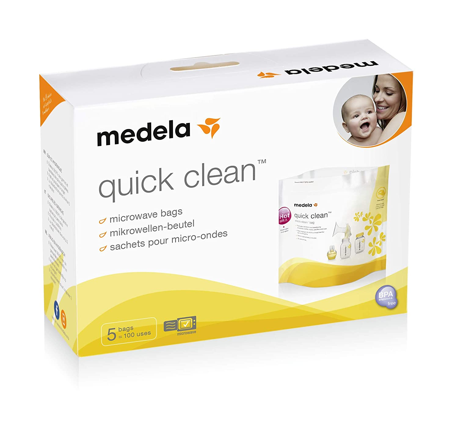 Medela Quick Clean Micro-Steam Sterilisation Bags Healthcenter 008.0040