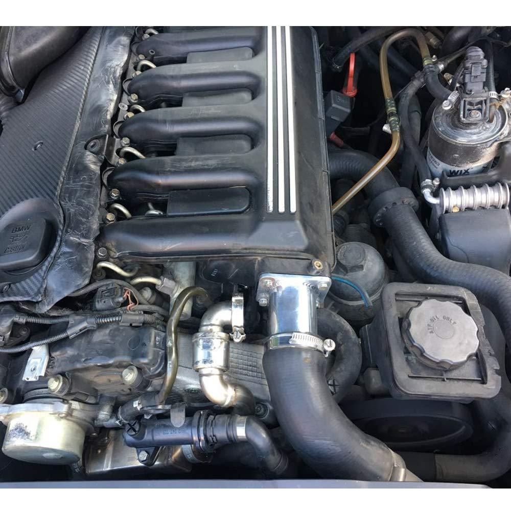 TD6 Alluminio Kit EGR Rimozione//Valvola EGR Elimina Kit Tubo Bypass Cieca per BMW E46 318D 320D 330D 330Xd 320Cd 318Td 320Td Ricircolo dei Gas di Adatto per Land Rover TD4