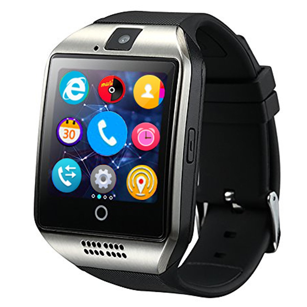 Bluetooth Smart Watch Touchscreen with Camera,Unlocked Watch Cell Phone with Sim Card Slot,Smart Wrist Watch,Waterproof Smartwatch Phone for Android Samsung iOS iPhone 7 6S Men Women Kids by YOKEYS