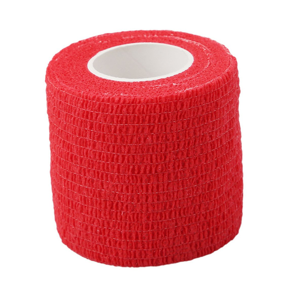 Dolland Adhesive Bandage Wrap Stretch Self-adherent Tape For Sports, Wrist, Ankle,Red