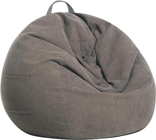 SANMADROLA Stuffed Animal Storage Bean Bag Chair Cover No Bean