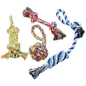 Pecute Pack de Juguete de Cuerda para Higiene Bucal del Perros y Gatos (Pack de 4): Amazon.es: Hogar