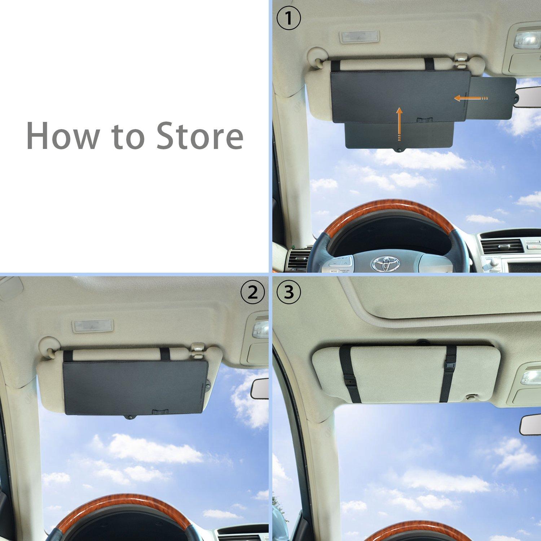 WANPOOL Parasole Antisole Visiera Antiabbagliante Anti-riflesso per Sedile Anteriore conducente o passeggero 1 Pezzo