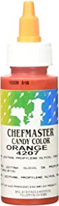 Chefmaster Liquid Candy Color, 2-Ounce, Orange