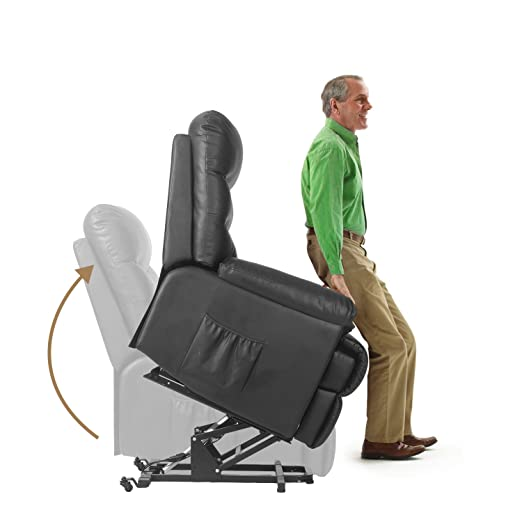 Amazon.com Merax Power Recliner and Lift Chair in Black PU leather Lift Recliner Chair Heavy Duty Steel Reclining Mechanism Home u0026 Kitchen  sc 1 st  Amazon.com & Amazon.com: Merax Power Recliner and Lift Chair in Black PU ... islam-shia.org