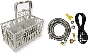 "Appliance Pros Universal Dishwasher Cutlery Basket (9.45"" x 5.5""x 4.7"") and Universal Dishwasher Installation Kit PM28X329 (BUNDLED VALUEPACK)"