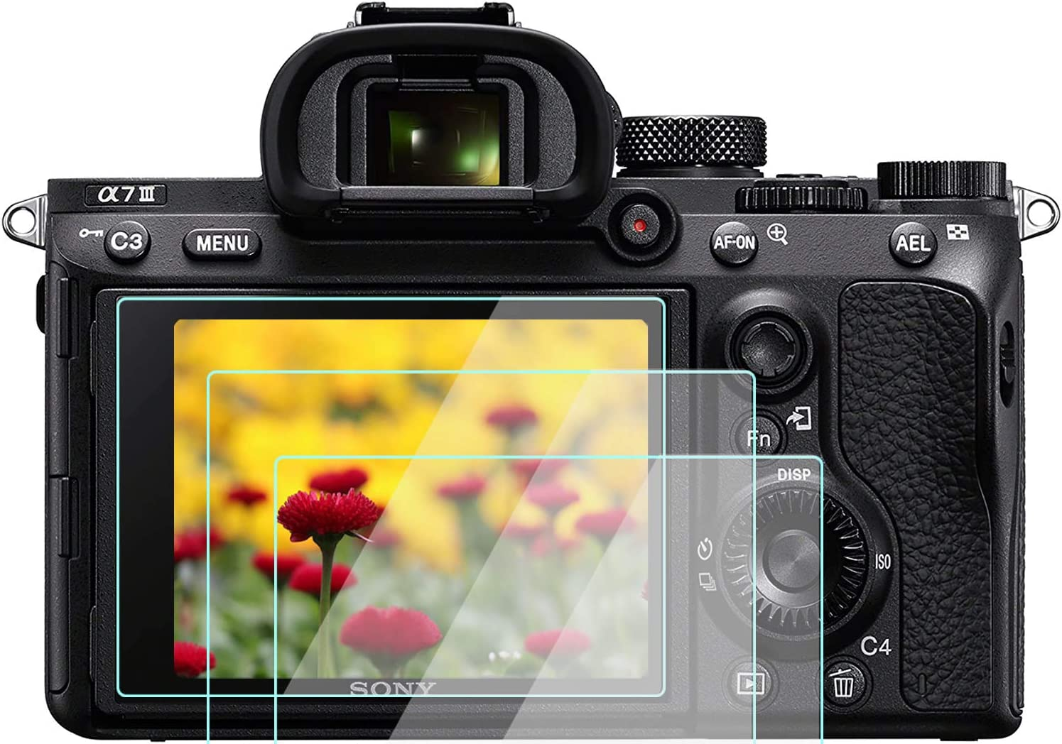 Fotga Tempered Optical Protection Glass For LCD Screen For Sony A7III A7RIII