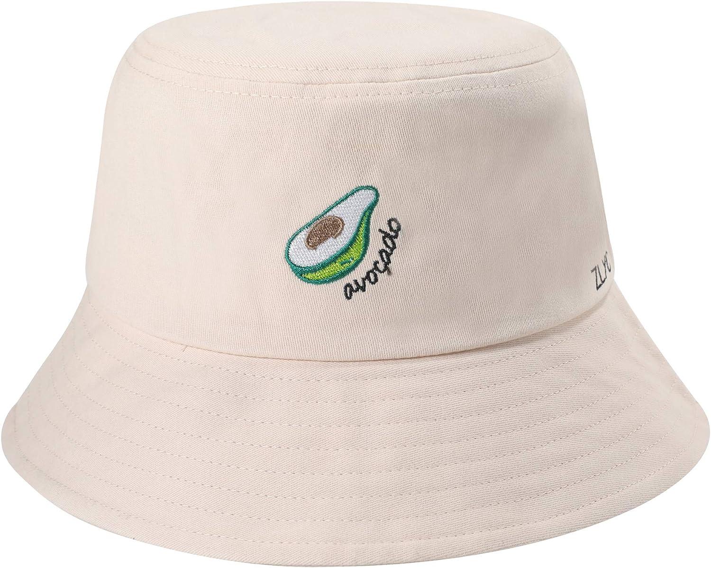 ZLYC Unisex Fashion Embroidered Bucket Hat Summer Fisherman Cap for Men Women