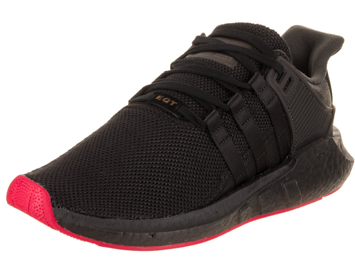 3a445063b671 Galleon - Adidas Mens EQT Support 93 17 Boost Running Shoes Core Black Core  Black Red CQ2394 Size 9.5