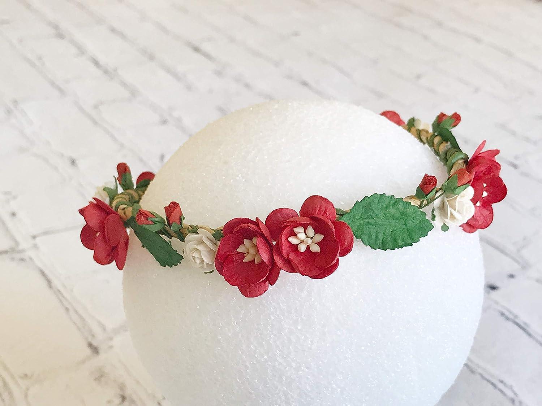 6b1a465babc Savvi Jewels Christmas Flower Crown Newborn Flower Crown Toddler Flower  Crown Baby Flower Crown Baby Headband ...