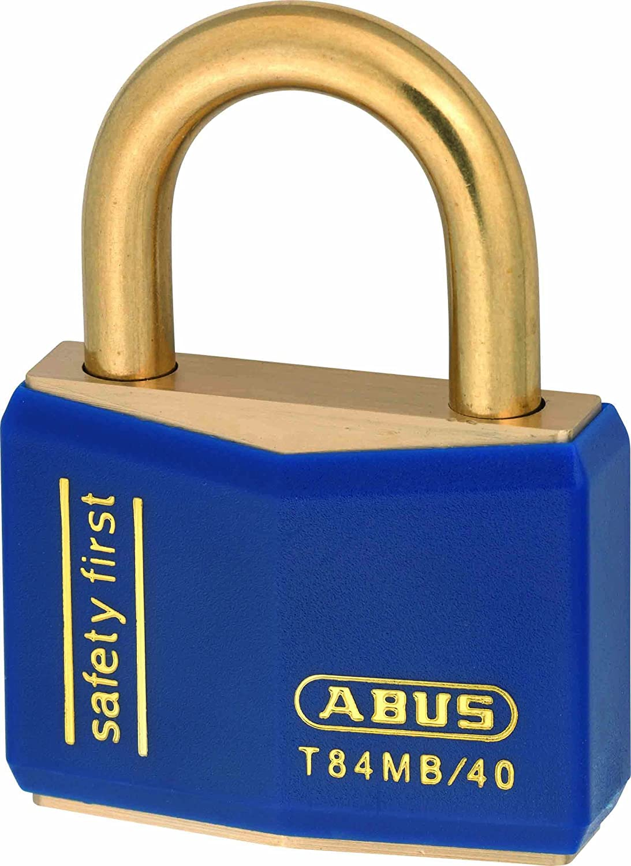 ABUS T84MB//40/_BLUE Candado Nautic de lat/ón 40mm azul
