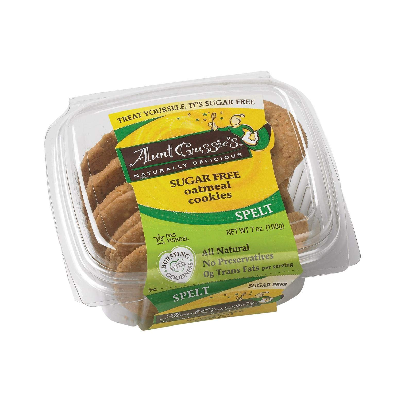 Sugar Free Oatmeal Cookies 7 Ounces (Case of 8) by Aunt Gussie's