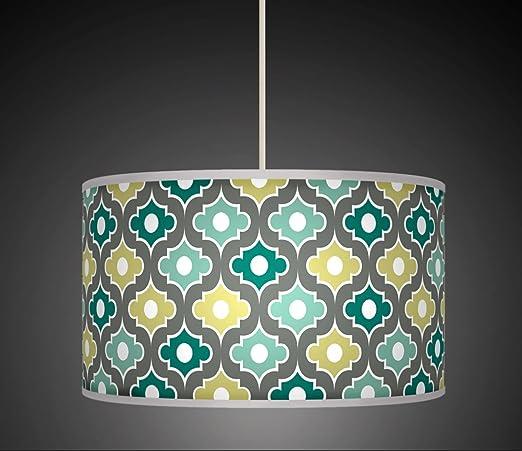 30 cm Moroccan Grey Aqua Blue retro Handmade geometrico