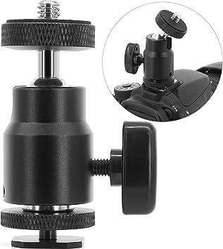 "360 Swivel 1//4/"" Screw Ball Head Camera Hot Shoe Tripod Adapter Bracket Stand"