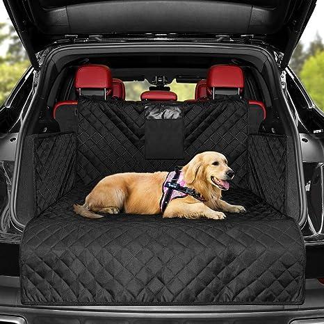 Kyg Universal Kofferraumschutz Hunde Kofferraumdecke Mit Ladekantenschutz Wasserabweisend Pflegeleicht Ideale Kofferraumschutzmatte Für Deinen Hund Haustier