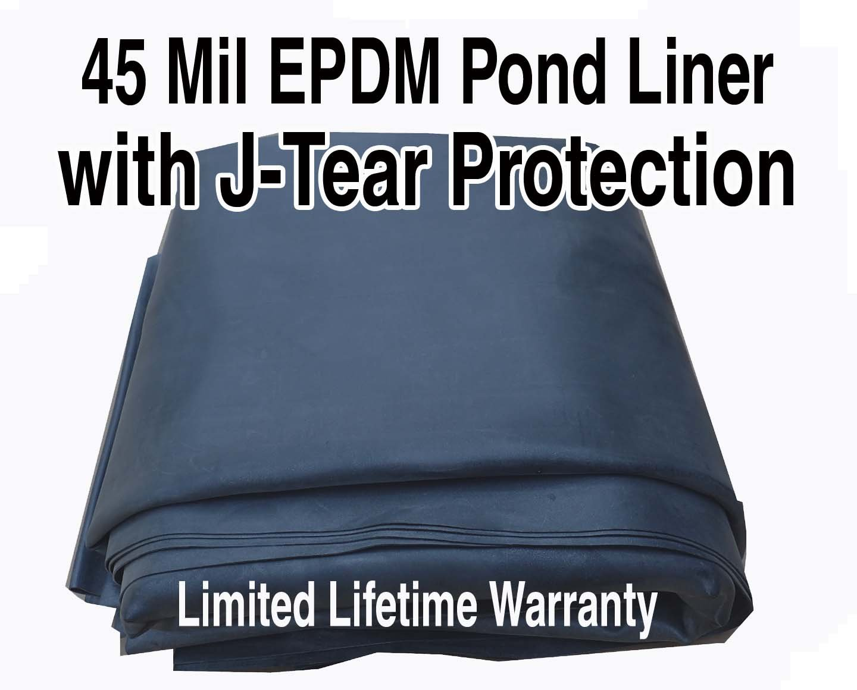 AquaTough Pond Liner with J-Test Protection 10 ft x 8 ft 45 mil Epdm
