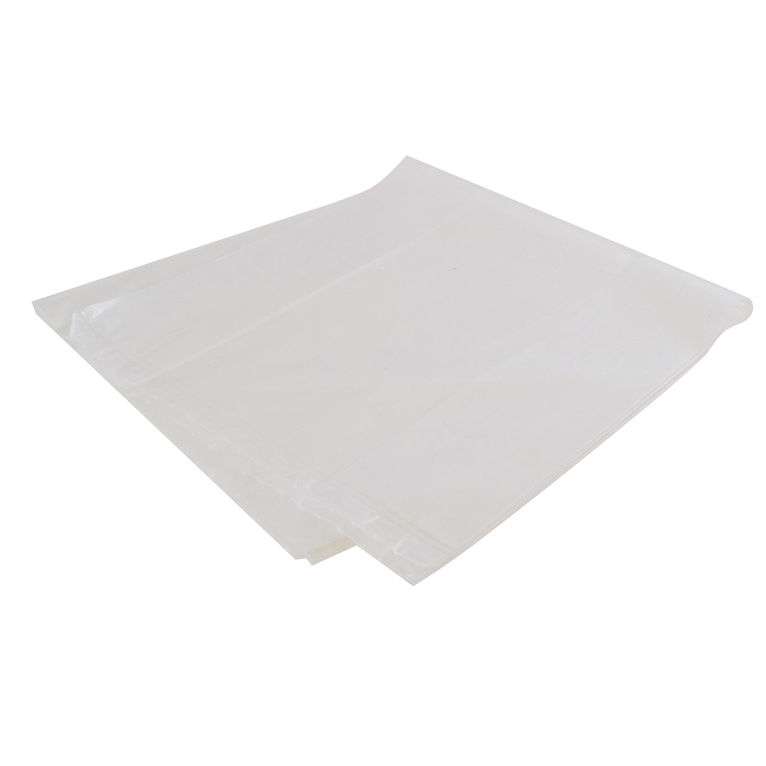 Gussetted Poly Bags, Low Density, 1.5 mil Thick, 8 x 4 x 18 Inches, 100 Bags per Case
