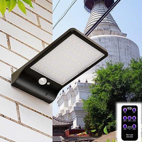 48 LED Solar Lámpara de pared solar lámpara lámpara de exterior con detector de movimiento y