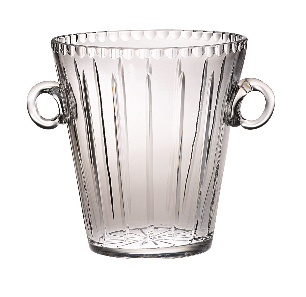 Majestic Gifts AJO-155 Handmade European Crystal Ice Bucket, 8.5''H, Clear