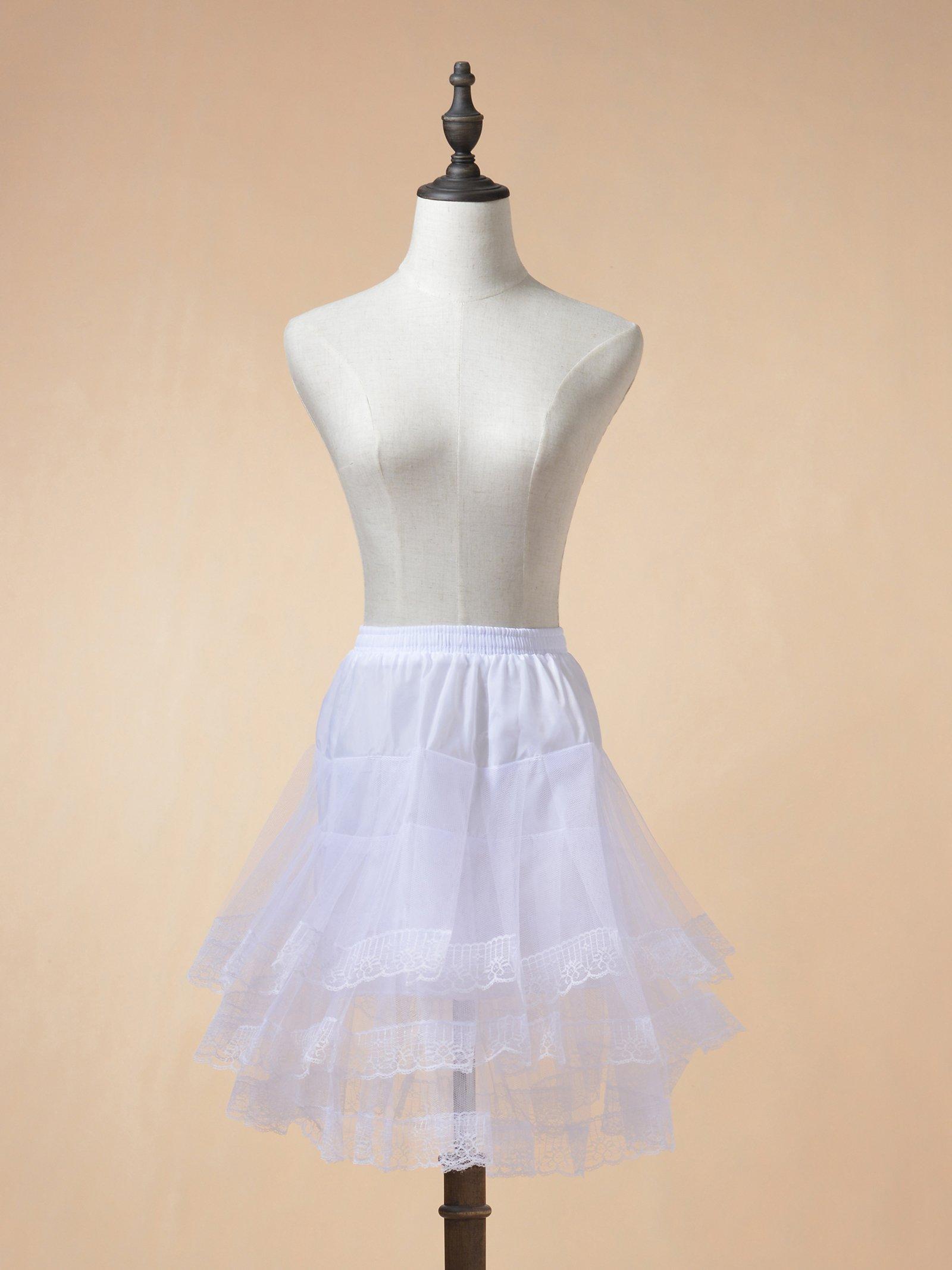 Remedios Kids Mini White Petticoat Flower Girl Wedding Underskirt Cocktail Dress Crinoline Slip White by Remedios (Image #2)