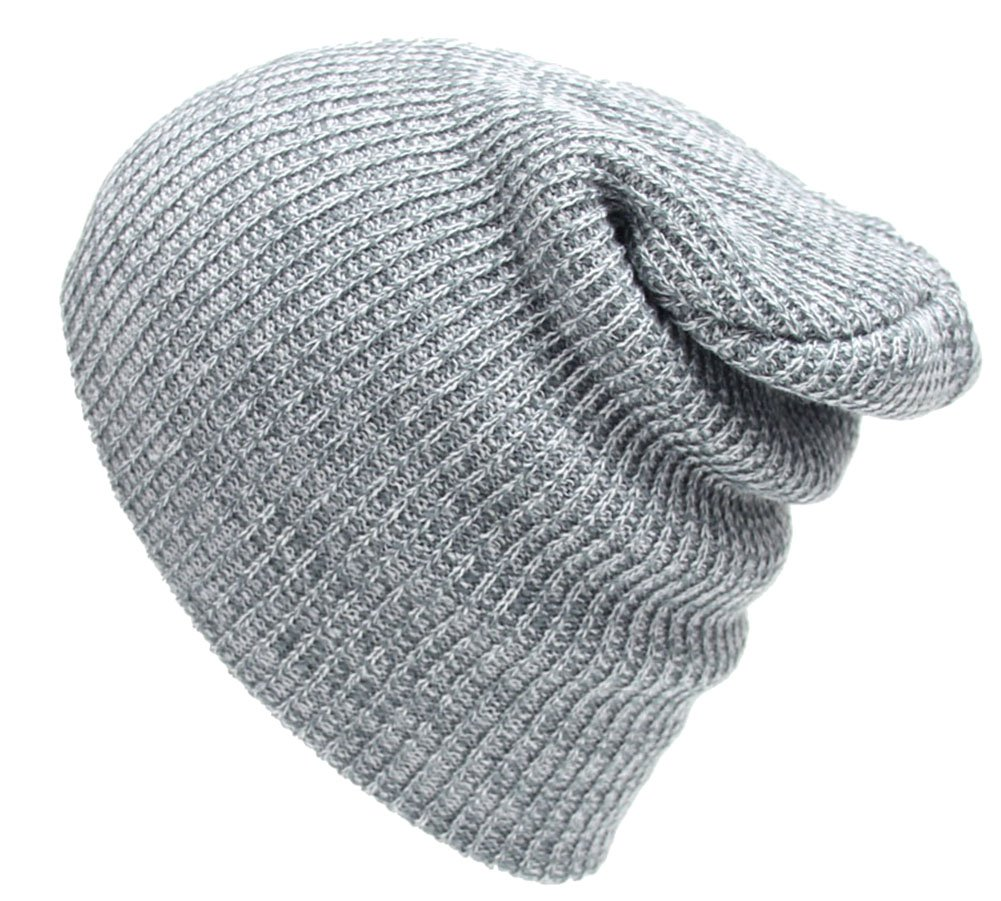 012ff516b14 SportsWell Mens  and Women s Simple Knitted Beanie Hat Fashion Winter Caps  Grey Apparel
