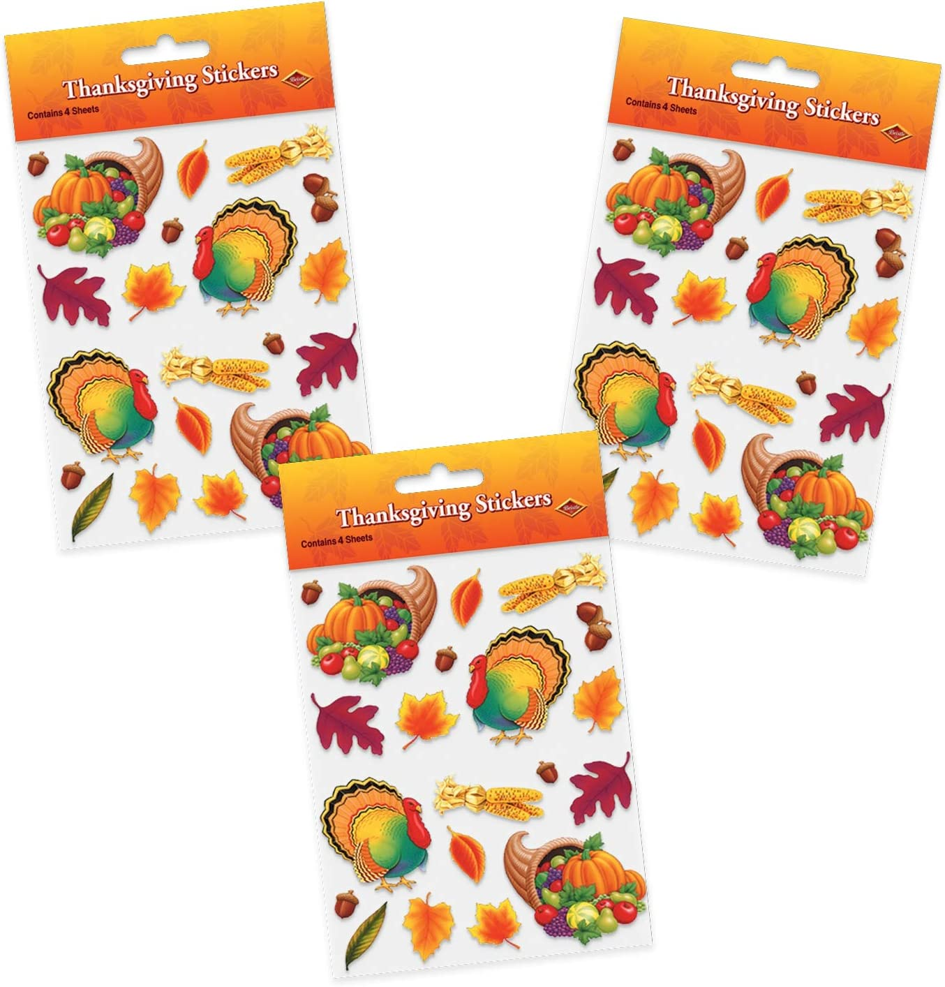 Thanksgiving Stickers (12 Sheets)