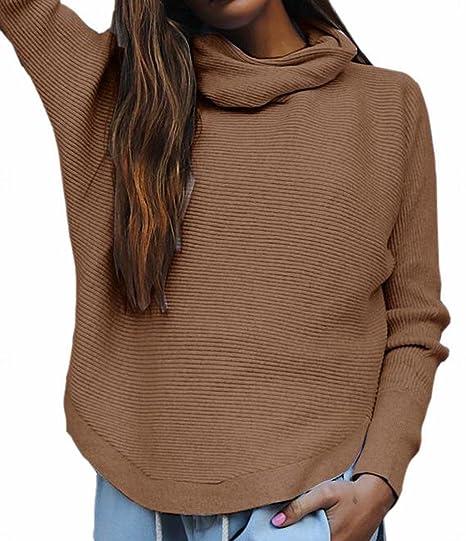701f796c637d92 pujingge Women Casual Turtleneck Long Sleeve Comfy Sweaters Knitwear 1 XS