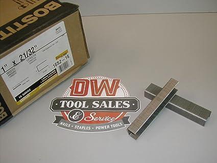 "15000 Qty. Bostitch 16S2-16 16-Gauge 1 Crown 21//32/"" Construction Staples"