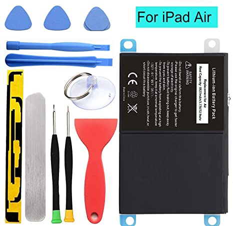 HDCKU New Battery for iPad Air Battery Replacement Kit for iPad 5  Generation A1474, A1475, A1476 with Full Set Installation Tools and  Adhesive (365
