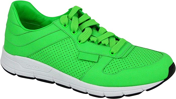 Gucci Men's Running Neon Green Leather