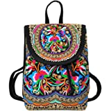 Etosell Lady Girl Toile Bandouliere Ethnique Tribal Backpack Sac A Dos A84 (A)
