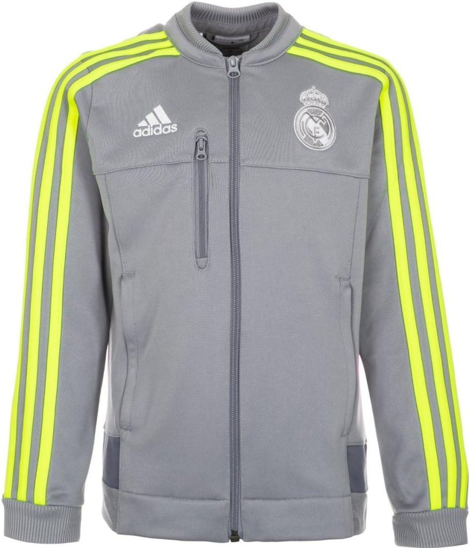 adidas Veste de survêtement Real Madrid Anthem 152 cm Gris