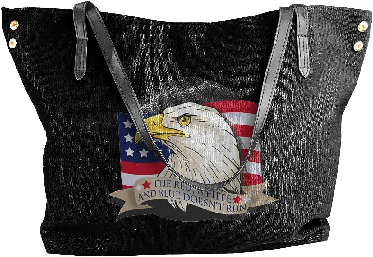 American Patriot Eagle Womens Tote Bags Canvas Shoulder Bag Casual Handbags