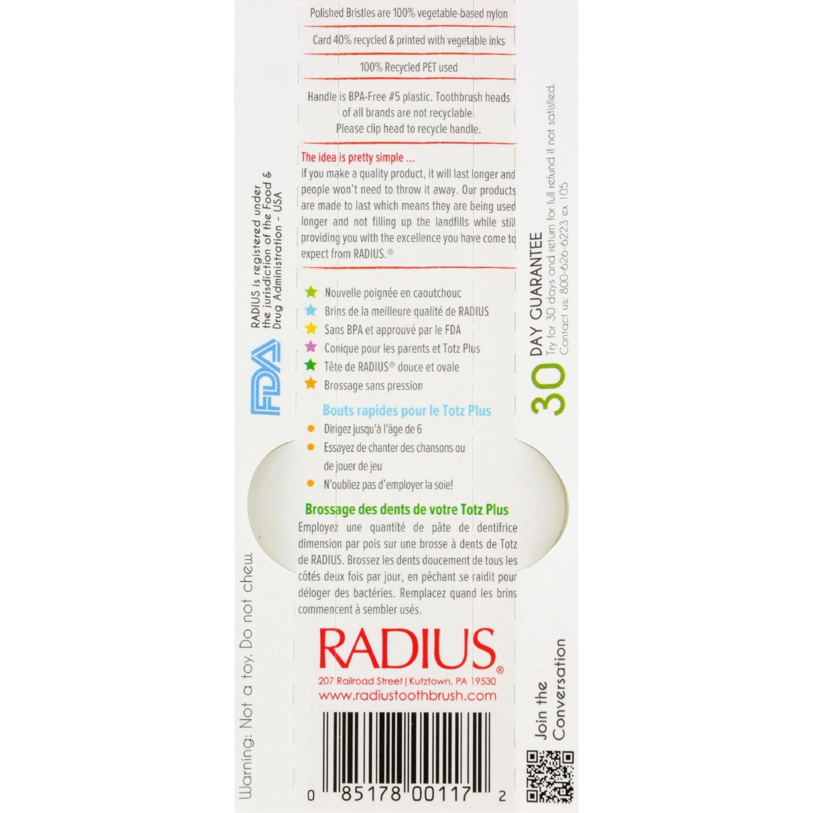 Radius Toothbrush Totz Plus Silky Soft (6 Pack) by RADIUS (Image #2)