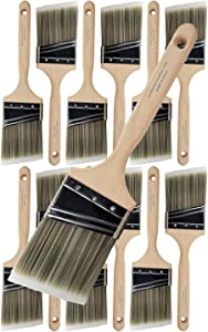 "Pro Grade - Paint Brushes - 12Ea 3"" Angle Brushes"