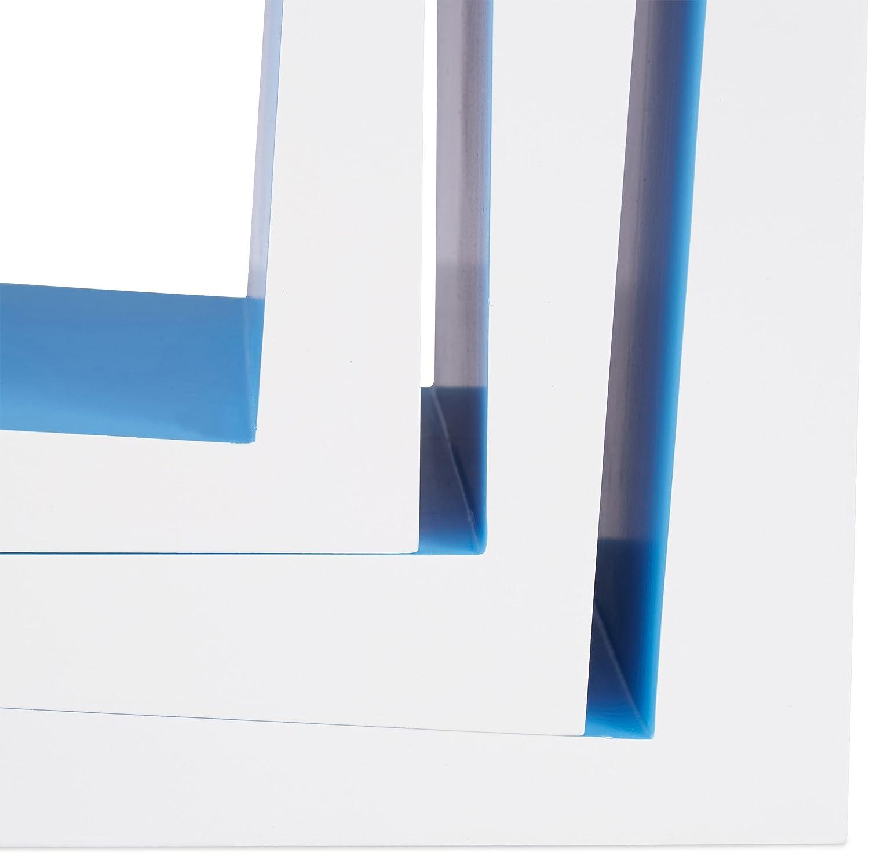 Bianco-Verde CD Libri Relaxdays 10021922/_252 Set 3 Mensole da Parete per Soggiorno Ripiani per DVD Cameretta Profondit/à 25 cm Decorative