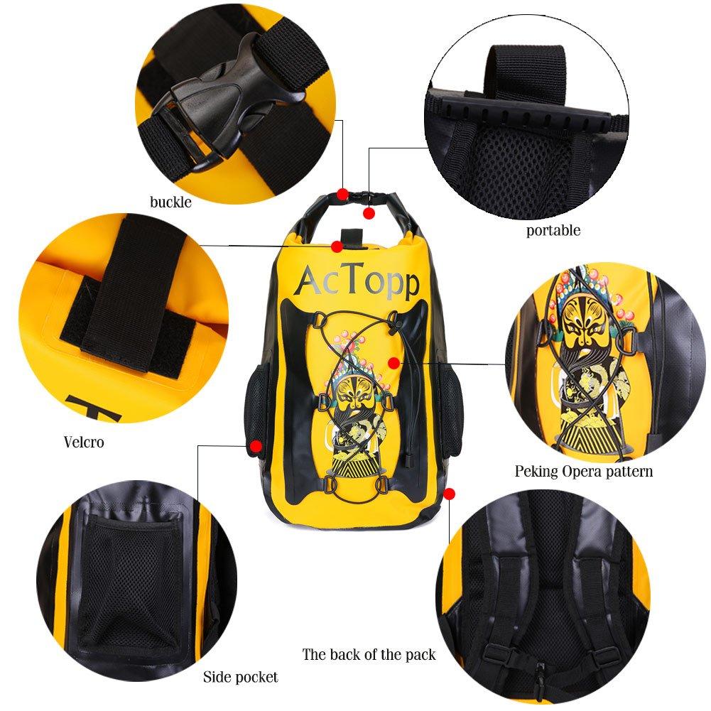 AcTopp 35/20L Waterproof Dry Bag Backpack Kayak Waterproof Bag Durable Roll Top Backpack with 2 Adjustable Shoulder Straps for Boating, Kayaking, Sailing, Rafting, Canoeing, Camping