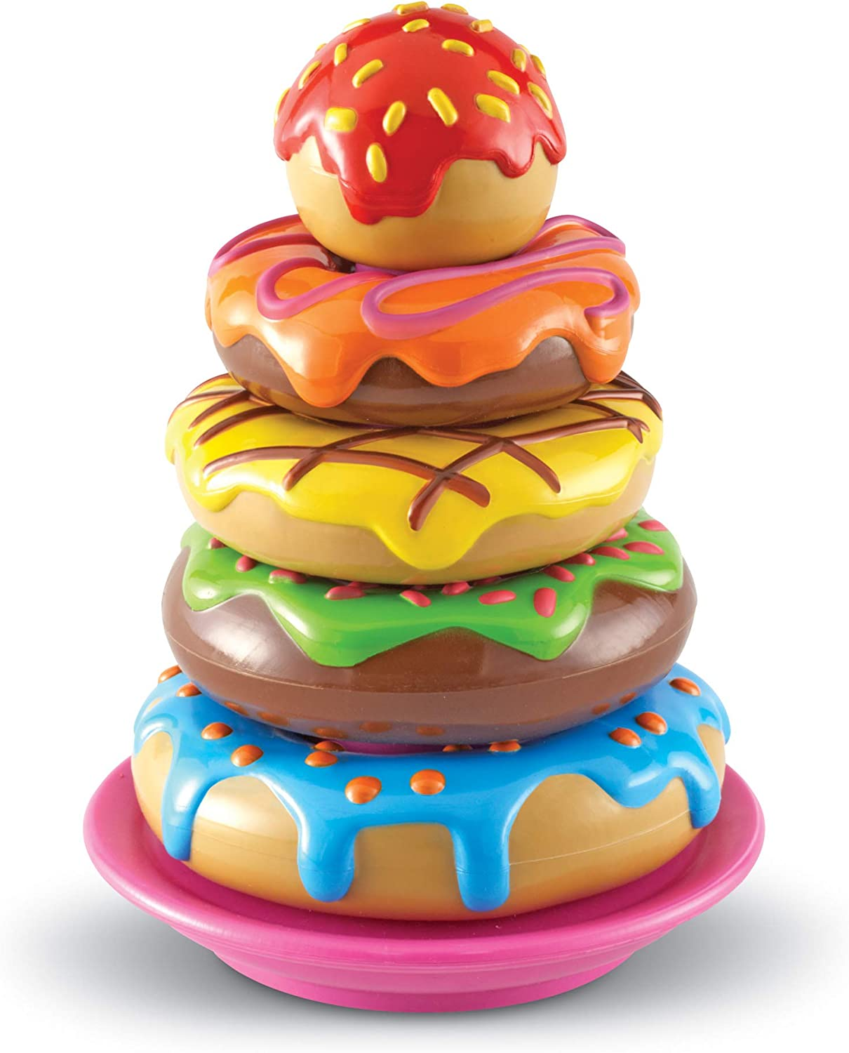 Learning Resources Smart Snacks Stack 'em Up Doughnuts, 5 Colorful Donuts, Ages 2+