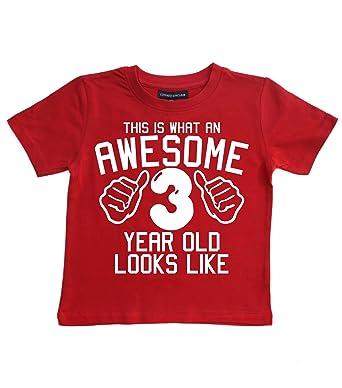 Camiseta para cumpleaños de niños, tallas 3-4 años con una ...