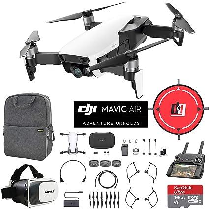 DJI Mavic Air Drone Combo 4 K WiFi Cuadricóptero con Mando a ...