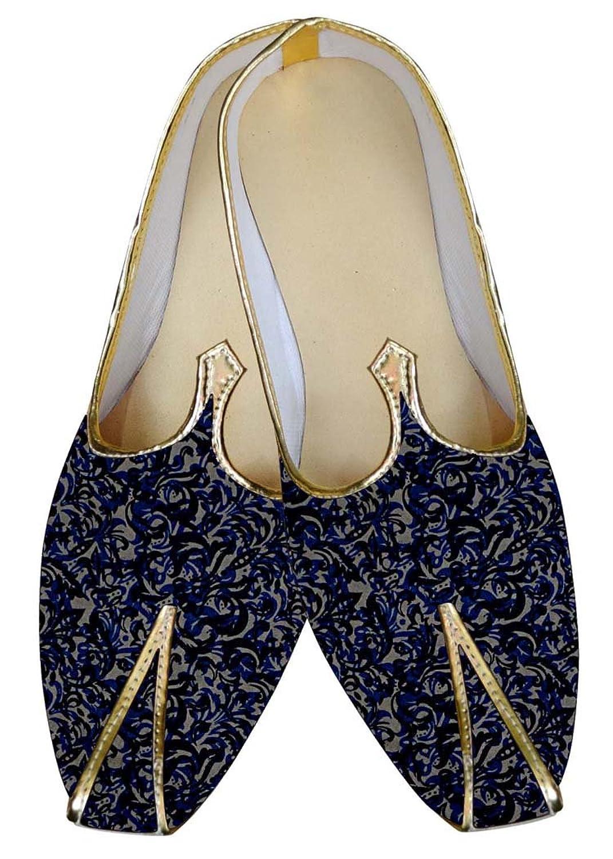 INMONARCH Azul Hombres Boda Zapatos Multi Diseño MJ015597 -