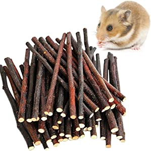 MAOM 100g/200g/300g Nature Apple Sticks Pet Food Wood Chew Toys for Guinea Pigs Chinchilla Rabbits Hamster