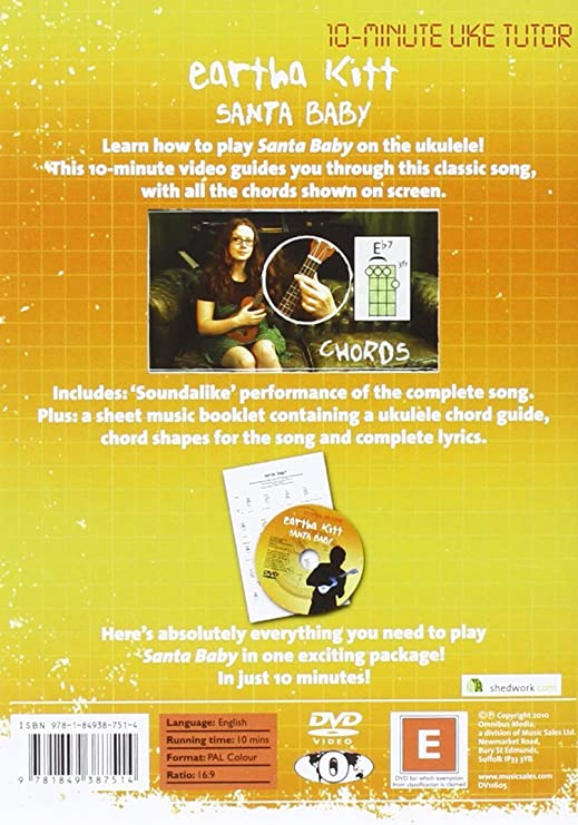 Amazon.com: 10-Minute Uke Tutor: Eartha Kitt - Santa Baby: Musical ...