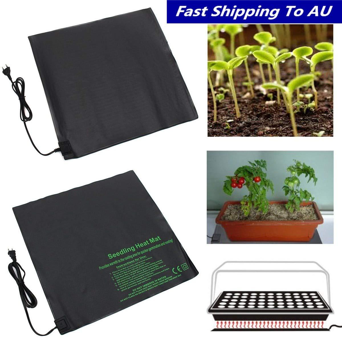 TOYECOTA - 52x52cm 110V/220V Seedling Heating Mat Waterproof Plant Seed Germination Propagation Clone Starter Pad Garden Supplies EU USPlug